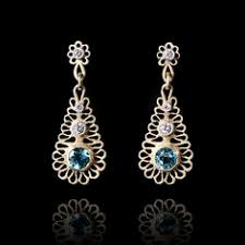 Luli's <b>Roman</b> Glass And Sterling <b>Silver Dangling</b> Earrings | Products ...