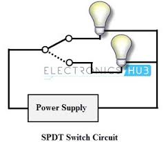 types of switches Single Pole Double Throw Switch Diagram spdt switch spdt exmaple single pole double throw light switch diagram