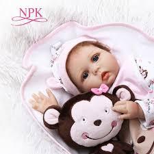 npk 55cm soft silicone reborn dolls baby realistic doll full vinyl boneca bebe for girls newest