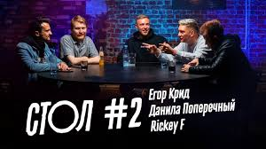 <b>СТОЛ</b> #<b>2</b>: Егор Крид, Данила Поперечный, Rickey F - YouTube