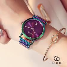 <b>2018 New GUOU Watch</b> Fashion Ultra Thin Women Calendar ...