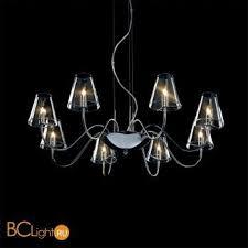 подвесной светильник lightstar 758084 серый металлик