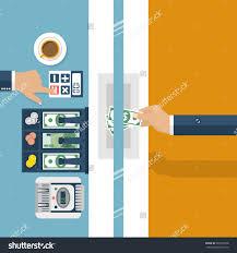 cashier bank worker bank financial specialist stock vector cashier in bank worker bank financial specialist cash currency exchange vector