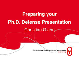 Preparing your Ph D  Defense PresentationChristian
