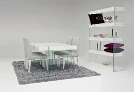 Modern White Dining Room Set Modest Design White Dining Table Home Aura Modern White Floating