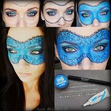 get masquerade makeup and the mask in a snap this easy pictorial will show you all you need to paint it on