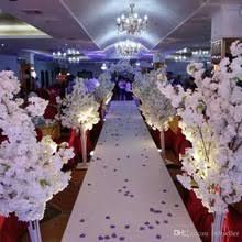 4pcsthe wedding props roman column road lead the new flower blue silk