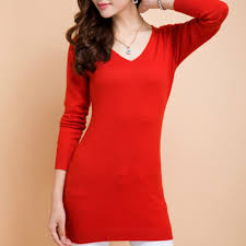<b>LHZSYY Spring</b> Autumn NEW V neck Cashmere Sweater Dress Ms ...