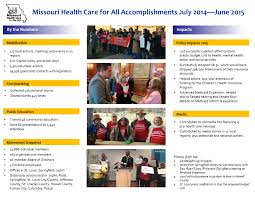 missouri health care for all accomplishments missouri mhcfa accomplishments report 2014 2015