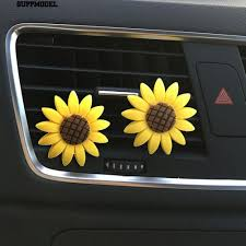 Suppmodel Cute <b>Sunflower Smile Face</b> Refresh Air Outlet Fragrant ...