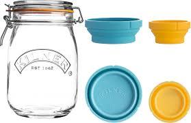 <b>Банка для хранения Kilner</b> Clip Top, с мерными чашами, 1 л ...