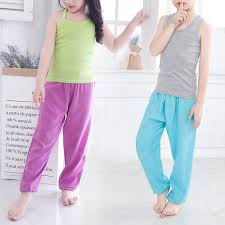 Summer <b>Kids Pants Children Boys Girls</b> Thin Elastic <b>Cotton</b> Full ...