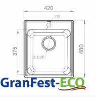 GRANFEST ECO-17 мойка композитная (<b>кварцевый песок</b> ...