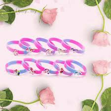 sulemy hfjinjing Cute <b>Silicone</b> Unicorn <b>Wristband Bracelet</b> Wrist ...