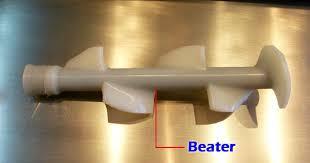 <b>Replacement</b> White Beater Scraper of Ice Cream Machine Spare ...