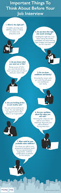 important things to think about before your job interview infographic 3 important things to think about before your job interview