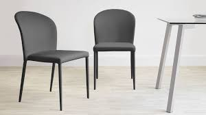 dining chair grey faux leather dark grey dining chairs uk santo stackable faux leather dining chair