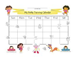 potty training charts potty training concepts dora the explorer potty training calendar color