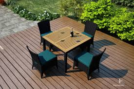 arbor dining set 5 piece harmonia living patio furniture outdoor modern design teak wicker aluminum affordable affordable outdoor furniture