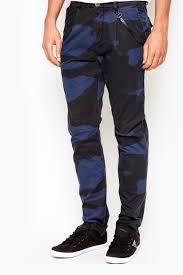 Guess elliot <b>camo</b> chino pant <b>blue dark blue</b> | Brands For Less