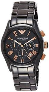 Buy Emporio Armani Valente Analog Black Dial Men's <b>Watch</b> ...