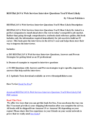 res tful java web services interview questions youll most likely id