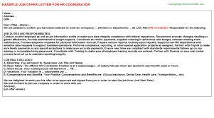 Hr Coordinator Cover Letter Sample   free cover letter templates     SlideShare Human Resources Cover Letter   sample hr manager resume