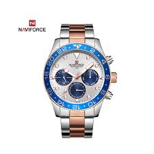 NAVIFORCE Stainless Steel Two Tone Chronograph Wrist Watch ...
