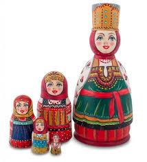 <b>Матрешка Art East</b>, <b>Устиния</b>, 5 Шт, Товары Для Дома Россия