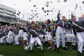 u s department of defense photo essay newly commissioned second lieutenants participate in the traditional hat toss at the end of the 2014