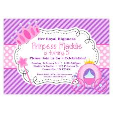 crown invite princess invitation purple stripes and pink polka dots royal princess crown personalized birthday party invite a digital printable file