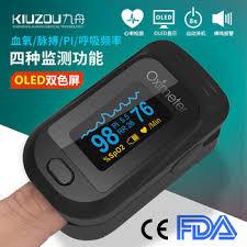 <b>JZ</b>-<b>133R finger clip</b>-on oximeter finger pulse oximetry monitor PI ...