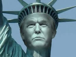 Image result for trump jet statue of liberty pics