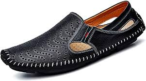 Lapens <b>Men's Casual</b> Loafers Genuine <b>Leather Breathable</b> Fashion ...