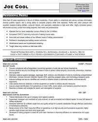 military resume military resume example