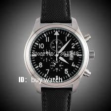 <b>42mm parnis</b> black dial gun big week vintage style day date quartz ...