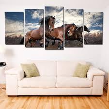 <b>Brown Horses</b> Riding Multi <b>Panel</b> Canvas Wall Art | ElephantStock