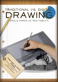traditional vs digital drawing  andreas lampropoulos pen amp paper vs pen tablet