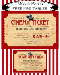printable movie ticket birthday invitation movie event printable movie ticket birthday invitation movie event hollywood backyard movie kids birthday party idea thank you card included p