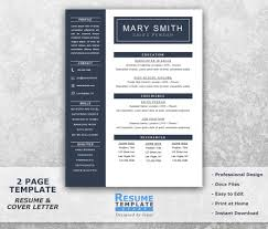 one page resume template word resume cover letter templates 128270zoom