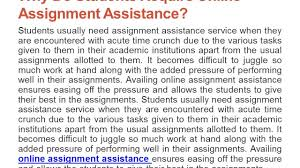 why online assignment assistance require why online assignment assistance require
