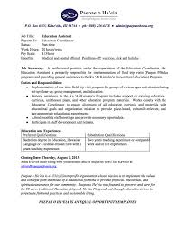 job opening education assistant paepae o he eia related posts