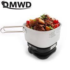 DMWD Silicone Electric Skillet Mini Hotpot <b>Multifunction</b> Food ...