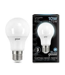 Светодиодная <b>лампа Gauss 102502210</b> 10w E27 4100к купить в ...