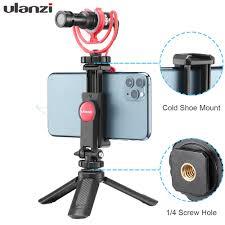 <b>Ulanzi ST 06 Adjustable</b> Phone Holder with 1/4 Screw Hot Shoe ...