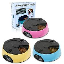 6 Meal <b>LCD Screen Electronic Automatic</b> Pet Feeder Dispenser for ...