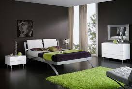 contemporary bedroom furniture design with modern bedroom decoration with black wall interior ideas and green carpet black and white furniture bedroom