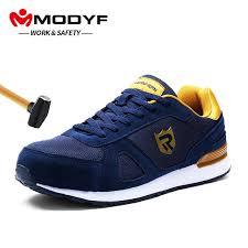 <b>MODYF Men's Steel Toe</b> Work Safety Shoes Breathable Lightweight ...