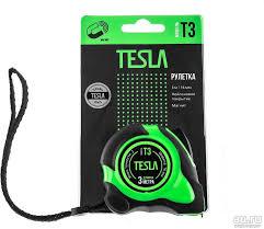 <b>Рулетка Tesla T-3 3м,16мм</b>, нейлоновое покрытие, магнит ...