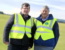 gallery newbridge kildare lions club charity walk at the curragh club president morgan mccabe and greg connolly